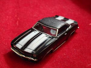 New 69 Black Con. Camaro MoDEL MoToRING T-jet HO Scale Slot Car Body Aurora RRR