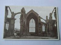 Chancel & east Window Melrose Abbey Vintage Scottish Postcard