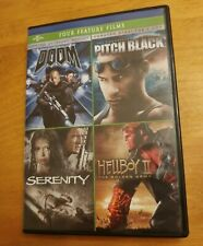 Doom, Pitch Black, Serenity and Hell Boy II - Four Feature films (DVD)