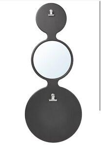 NEW IKEA 30x73cm Mirror Sorhassel Memo Board with Mirror & Magnets Black decor