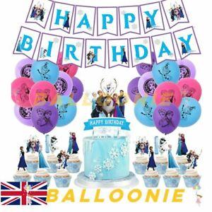 Frozen Theme Birthday Party Balloon Banner Decorations Set Princess Elsa Latex