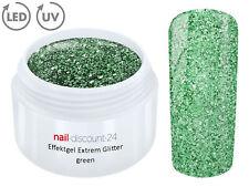 UV LED GEL EXTREM GLITTER Effekt GREEN Glitzer Color Farb NailArt Modellage Grün