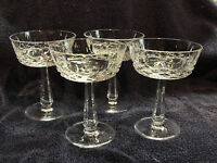Set of Four (4) GALWAY CUT CRYSTAL - CLIFDEN Pattern - CHAMPAGNE SHERBET GLASSES