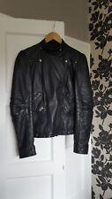 Zara BASIC veste en cuir noire taille M