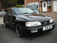 Ford Sierra Cosworth lookalike with a difference, Rover V8 power fortune spent