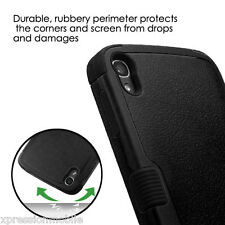 BLACK Hybrid Shock Rugged Protective Hard Case Cover For ALCATEL OneTouch IDOL 3