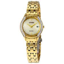 Citizen Diamond Bezel Gold-Tone Stainless Steel Ladies Watch GA1062-51P