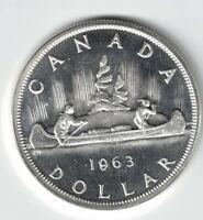 CANADA 1963 VOYAGEUR SILVER DOLLAR QUEEN ELIZABETH II .800 CANADIAN SILVER COIN