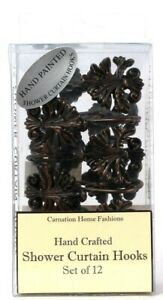 1 Pack Carnation Home Fashions Set Of 12 Hand Crafted Shower Curtain Hooks