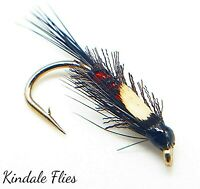 J/C Black and Red Organza Diawl Bachs size 12 (Set of 3) Fly Fishing Flies