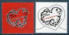 TIMBRES 3996-3997 NEUF XX LUXE - COEURS DE GIVENCHY - SAINT VALENTIN 2007