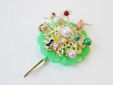 BINYEO Hair pin HANBOK Ornamental Hairpin Stick band dress Chinese Korean Green