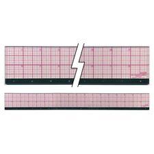"Westcott C-Thru 18"" X 2"" Clear Plastic Graph Beveled Ruler W/Metal Edge #B-85M"