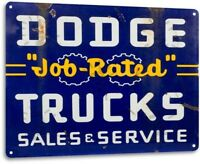 Dodge Job Rated Trucks Oil Gas Parts Service Auto Shop Garage Sign