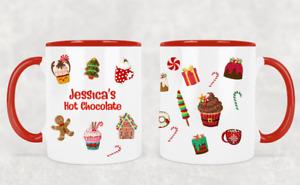 Personalised Christmas Mug Kids Children's Hot Chocolate Movie Mug Design