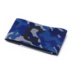 Football Soccer Flexible Sports Adjustable Bands Camouflage Captain Armband LJ Blue