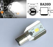 H6 BA20D Universal Motorcycle LED Headlight Bulb DC 12V-24V 12W COB Bike US POST