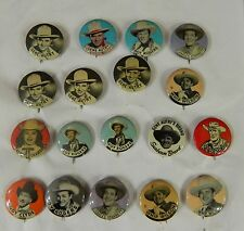 Lot  of 18 Western Cowboy Pinbacks - Buttons - Pins
