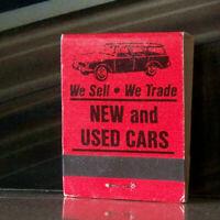 Vintage Matchbook L4 Denton Texas Harry Riney South Elm Cars Classic Wagon