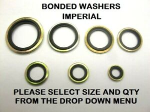 """Bonded Seal Washers IMPERIAL- Dowty Sealing Washer Sealing Sizes 1/8"""" - 1"""" BSP"""