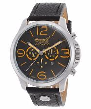 Ingersoll Watches Men's Totem Auto Chrono Ltd Ed Black Genuine Leather and Dial