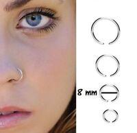 Faux piercing nez,arcade,cartilage,traguis,lèvre,septum ,anneaux