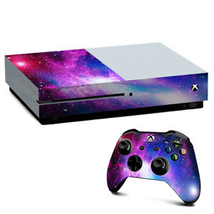 Xbox One S Console Skins Decal Wrap ONLY stars galaxy red blue purple gasses