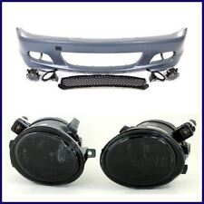 BMW E46 MTECH M TECH STYLE FRONT BUMPER W/ SMOKED FOG LIGHTS 2000-2006 COUPES