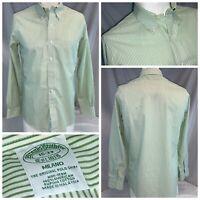Brooks Brothers Milano Shirt 15 33 Green Stripe Cotton LNWOT YGI A0-80