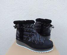 UGG CAYDEN BLACK WATERPROOF SUEDE/ NYLON WINTER BOOTS, US 10/ EUR 41 ~NIB