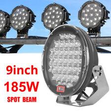"9""185W LED Work Lights Bar Spot Light Offroad Driving Lamp Vehicle Truck Car SUV"