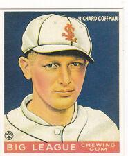 1933 RICHARD COFFMAN GOUDEY REPRINT BASEBALL CARD #101 MINT FREE SHIPPING