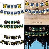 Ramadan Eid Mubarak Banner Girlanden Party Ornamente Hängedeko Islam Moschee