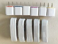 5/3 Pack Home Charging Kit Cord Cable Wall Plug Car Charger For iPhone 5 6 7 8 X