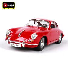 Burago 1/24 1961 Porsche 356B Coupe Diecast Car Model Red