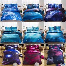 3D Galaxy Quilt/Doona/Duvet Cover Set Single/Queen/King Size Bed Pillow Case Set