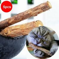 5Pcs Cat Teeth Natural Catnip Pet Molar Toothpaste Matatabi Snacks Sticks