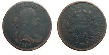 Half cent/penny 1806 Cohen 2 rarity 4 coin small 6 with stems VF details