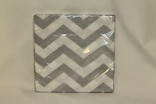 Silver Chevron Birthday Party Supplies Large Lunch Napkins