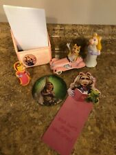 Lot of 6 Vintage Miss Piggy Collectibles - used for display only