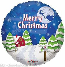 """18"""" Foil Balloon di Natale-Scena Di Neve-Grande Decorazione di Natale."""