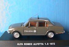 ALFA ROMEO ALFETTA 1.8 1972 POLIZIA DEAGOSTINI 1/43 ITALIA ITALIE POLICE VERDE