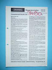 Service Manual for Grundig Studio 310/320, Original