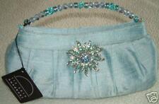 liz soto handbags  blue silk handbag $89.99-NWT