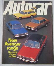 Autocar 18/9/1976 featuring Toyota Celica, Chrysler, TVR, Blydenstein Chevette