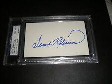 FRANK ROBINSON SIGNED INDEX CARD 3X5 PSA 10 GEM- MINT