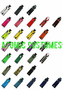Suspenders Quality Clip On Costume Adult Mens Womens Fancy Dress Bright NEW