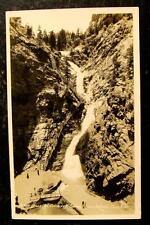 1910 REAL PHOTO POSTCARD-SEVEN FALLS, CHEYENNE CAYON, COLO SPRINGS, COLORADO