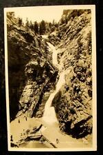 1910 REAL PHOTO POSTCARD-SEVEN FALLS, CHEYENNE CAYON, COLO SPRINGS, COLORADO