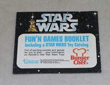 Star Wars Kenner 1977 Fun'N Games Booklet Toy Catalog Burger Chef Find